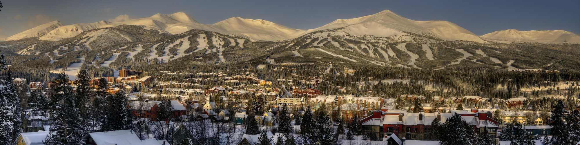 Snowy town of Breckenridge
