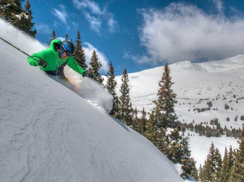 Powder skiing in Breckenridge